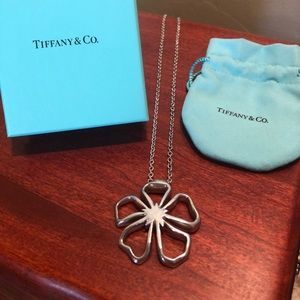 Authentic Tiffany & Co Large Open Flower Necklace!